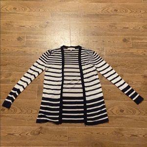 Loft | Navy striped cardigan